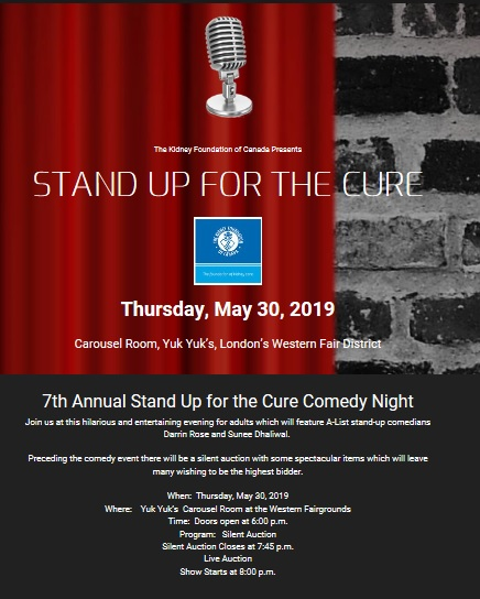 7th annual Stand Up for The Cure Comedy Night - JACK 102 3